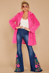 3 Show Off Neon Pink Coat at reddressboutique.com