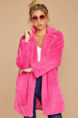 4 Show Off Neon Pink Coat at reddressboutique.com
