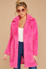 5 Show Off Neon Pink Coat at reddressboutique.com