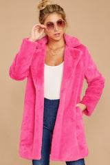 6 Show Off Neon Pink Coat at reddressboutique.com
