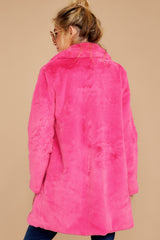 8 Show Off Neon Pink Coat at reddressboutique.com