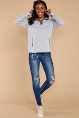 3 Weekend Getaway Indigo Blue Pullover at reddressboutique.com
