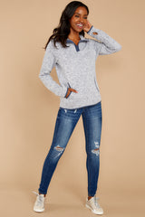 1 Weekend Getaway Indigo Blue Pullover at reddressboutique.com