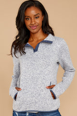 6 Weekend Getaway Indigo Blue Pullover at reddressboutique.com