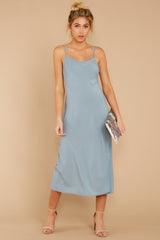 5 Simple Glance Sky Blue Midi Dress at reddressboutique.com