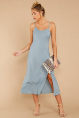3 Simple Glance Sky Blue Midi Dress at reddressboutique.com