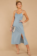 2 Simple Glance Sky Blue Midi Dress at reddressboutique.com