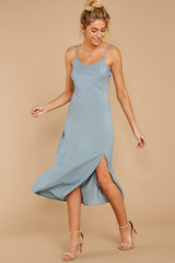6 Simple Glance Sky Blue Midi Dress at reddressboutique.com