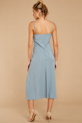 7 Simple Glance Sky Blue Midi Dress at reddressboutique.com