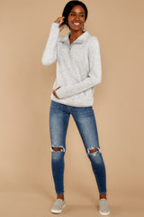 2 Weekend Getaway Heather Ivory Pullover at reddressboutique.com