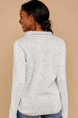 8 Weekend Getaway Heather Ivory Pullover at reddressboutique.com