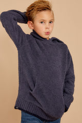 2 CozyChic® Pacific Blue Youth Pullover Hoodie at reddressboutique.com