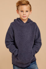 3 CozyChic® Pacific Blue Youth Pullover Hoodie at reddressboutique.com