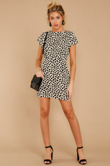 1 Never Lonely Ivory Print Dress at reddress.com