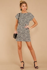2 Never Lonely Ivory Print Dress at reddressboutique.com