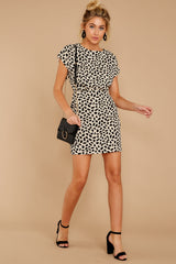 3 Never Lonely Ivory Print Dress at reddressboutique.com