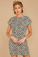 4 Never Lonely Ivory Print Dress at reddress.com