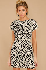 7 Never Lonely Ivory Print Dress at reddressboutique.com