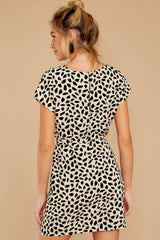 8 Never Lonely Ivory Print Dress at reddress.com