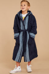 2 CozyChic® Indigo Dusk Striped Robe at reddressboutique.com