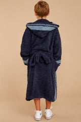 5 CozyChic® Indigo Dusk Striped Robe at reddressboutique.com