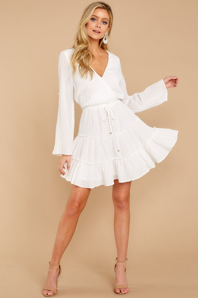 3 A Night To Remember White Dress at reddressboutique.com
