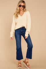4 You're A Classic Cream Sweater at reddressboutique.com