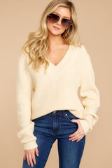 5 You're A Classic Cream Sweater at reddressboutique.com