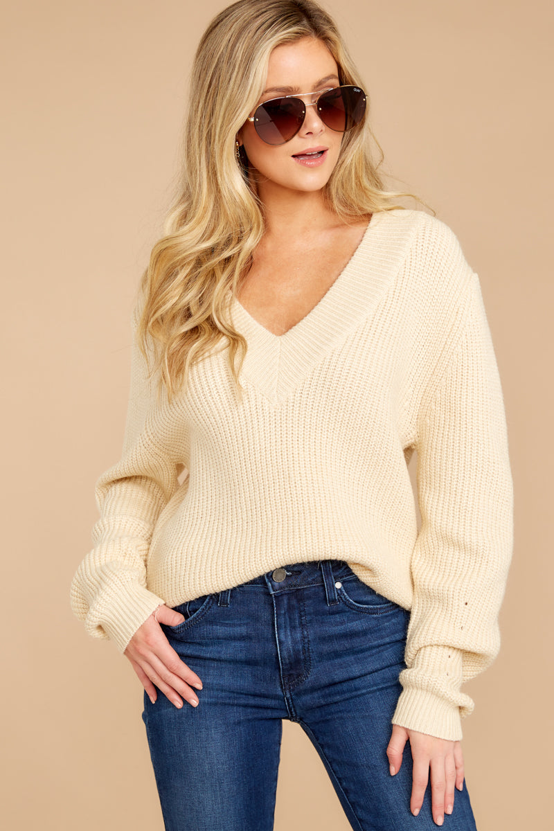 6 You're A Classic Cream Sweater at reddressboutique.com