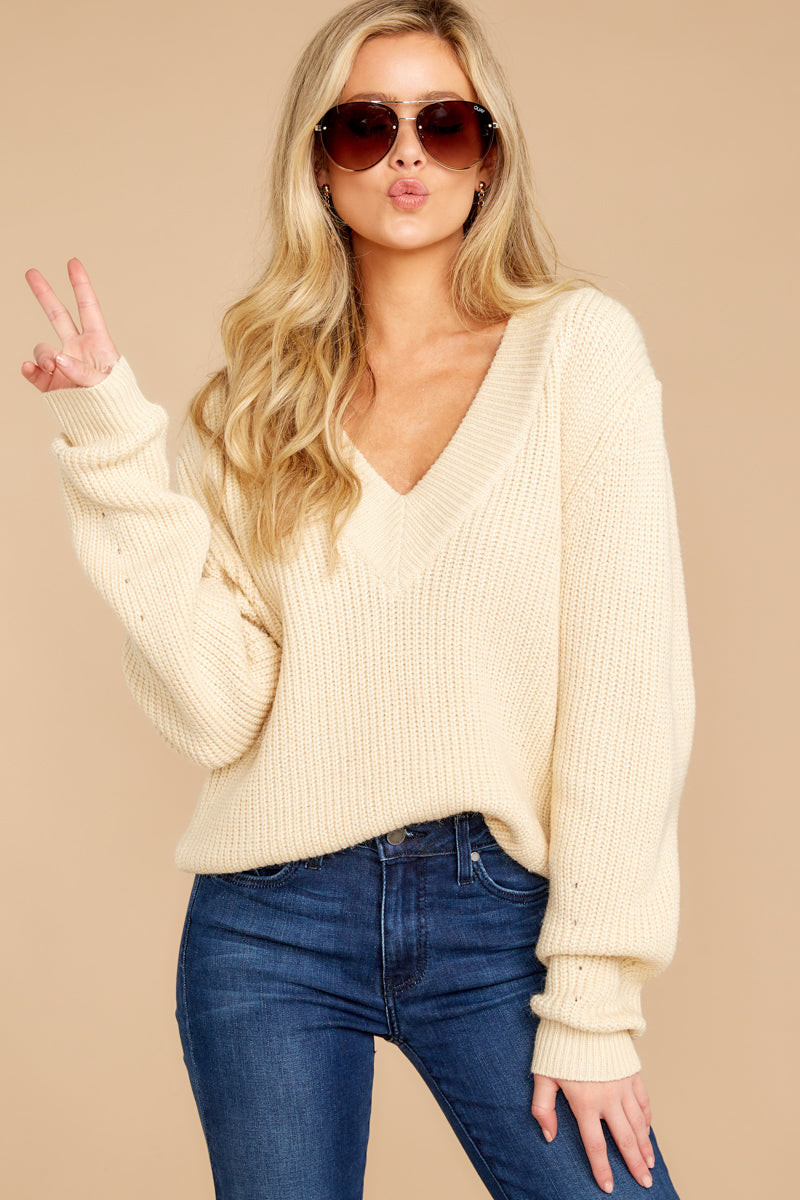 7 You're A Classic Cream Sweater at reddressboutique.com