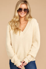 8 You're A Classic Cream Sweater at reddressboutique.com