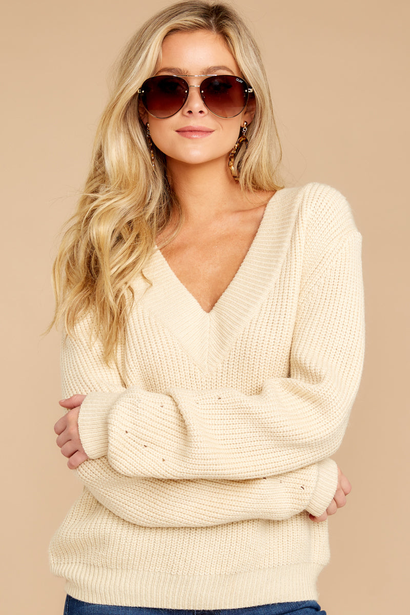 9 You're A Classic Cream Sweater at reddressboutique.com