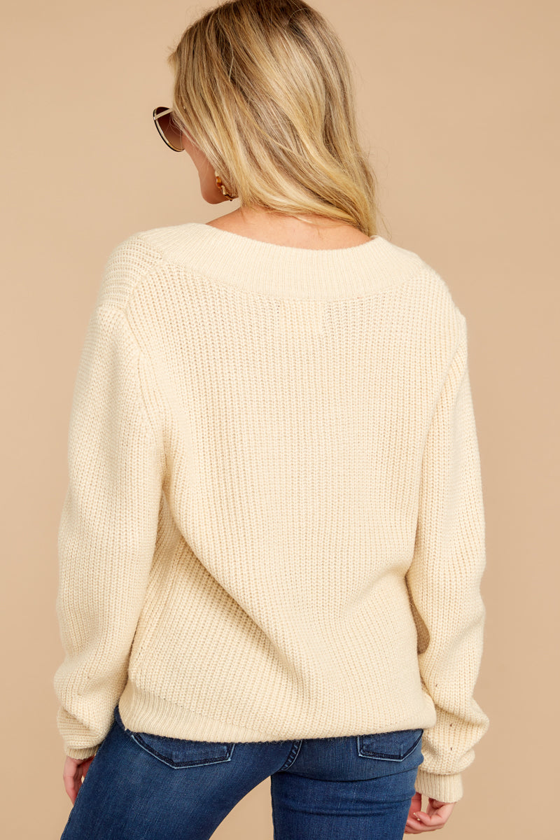 You're A Classic Cream Sweater at reddressboutique.com