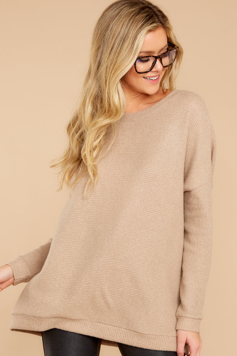 4 Down The Road Taupe Top at reddress.com