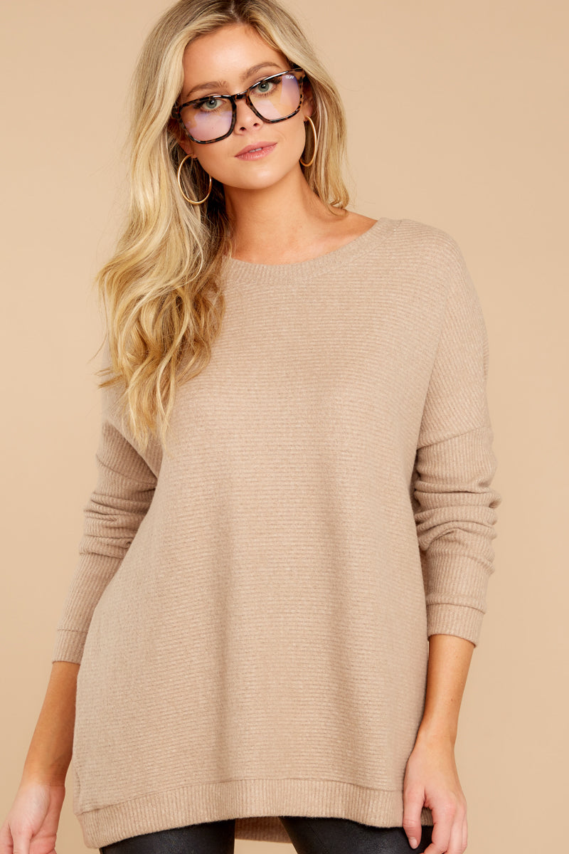 5 Down The Road Taupe Top at reddress.com