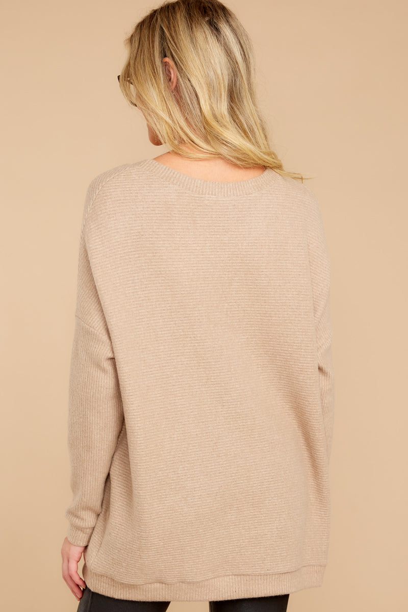 6 Down The Road Taupe Top at reddress.com