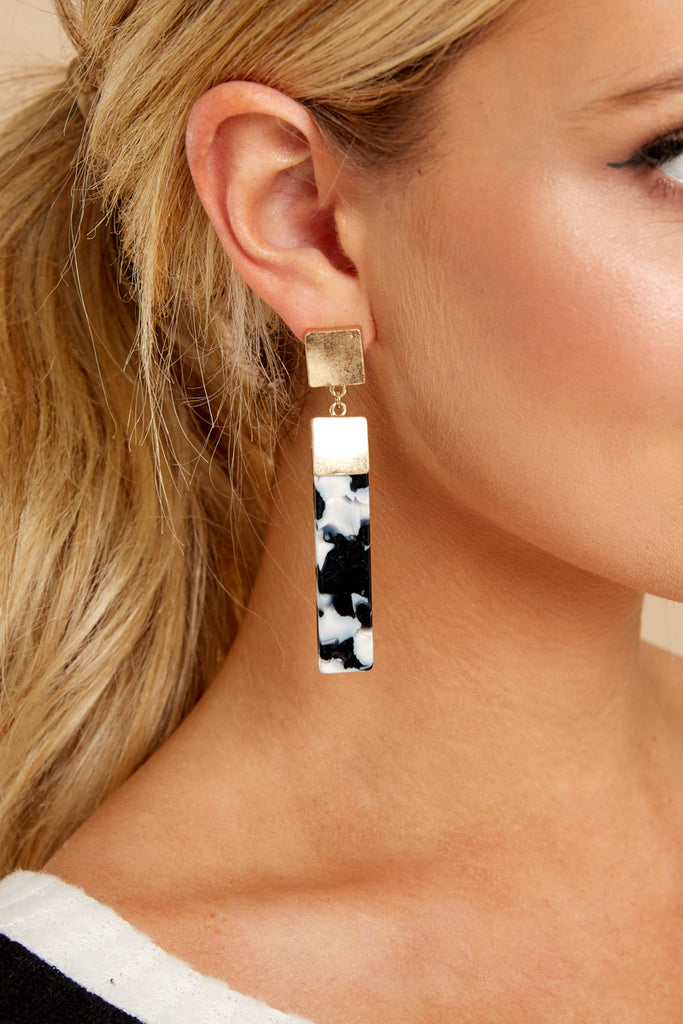1 Not Like Others Black Statement Earrings at reddressboutique.com