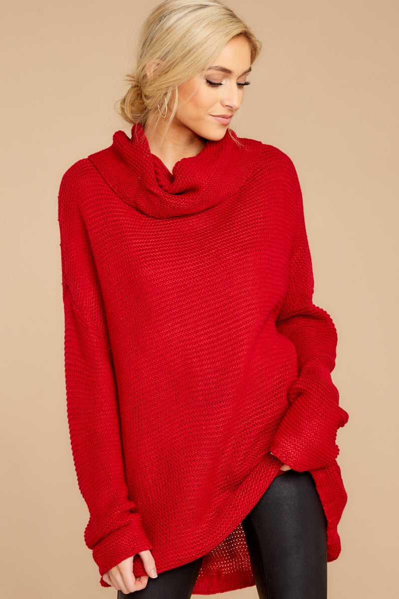 Greatest Embrace Red Sweater at reddressboutique.com