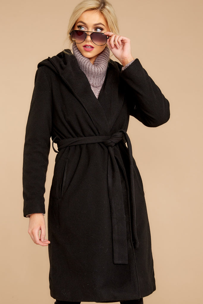 1 Out Of The Box Black Coat at reddress.com