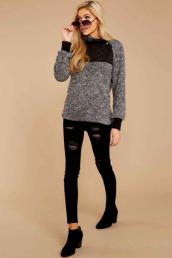 1 Weekender Sweater In Black at reddressboutique.com