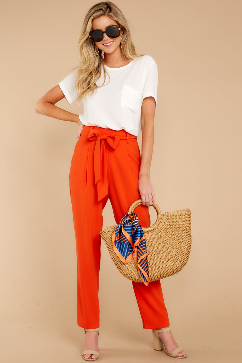 1 Call It Now Tomato Red Pants at reddressboutique.com