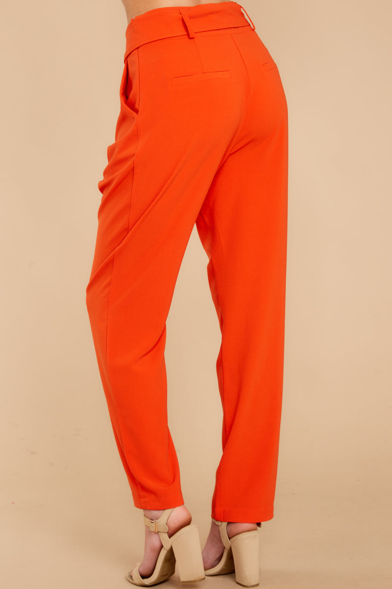 3 Call It Now Tomato Red Pants at reddressboutique.com