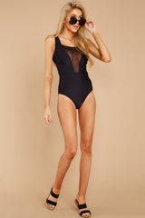 3 À La Plage Black One Piece Swimsuit at reddress.com