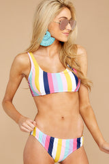 3 Sweet Like Candy Stripe Bikini Bottom at reddress.com