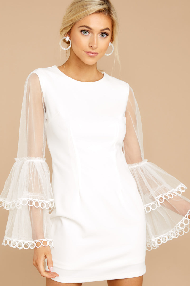 4 A Night To Remember White Dress at reddressboutique.com