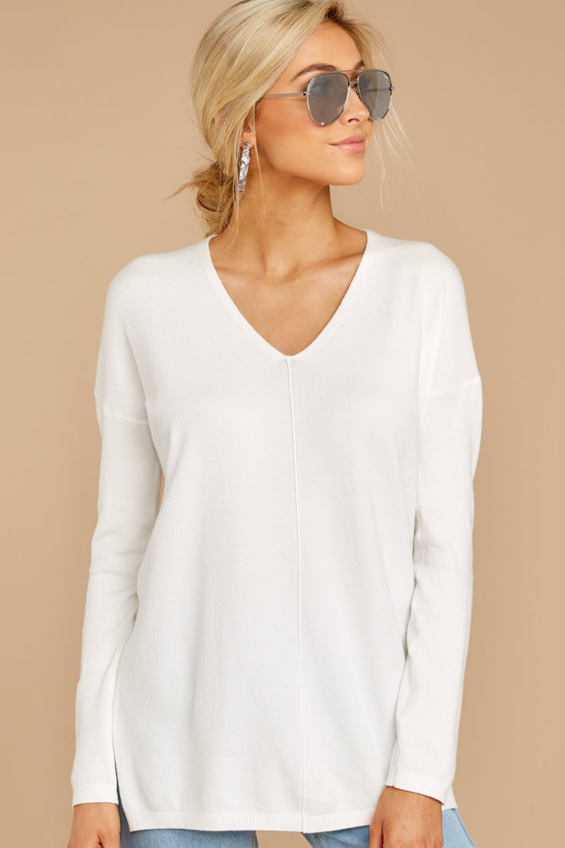 6 Give It A Rest White Sweater at reddress.com