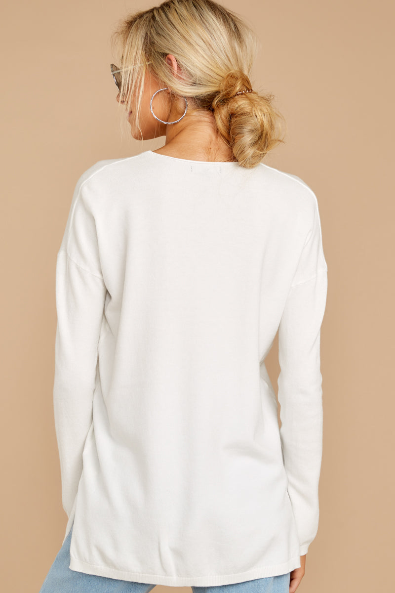 7 Give It A Rest White Sweater at reddress.com