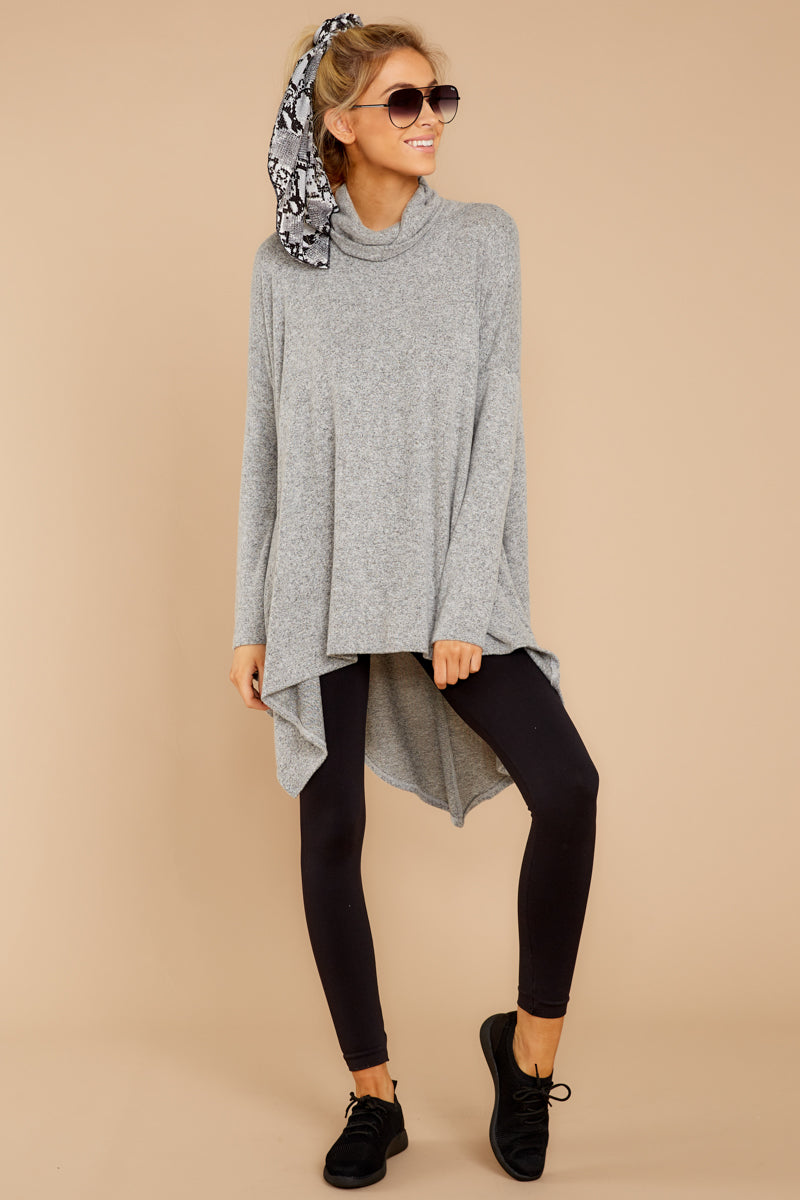 4 These Days Grey Top at reddressboutique.com