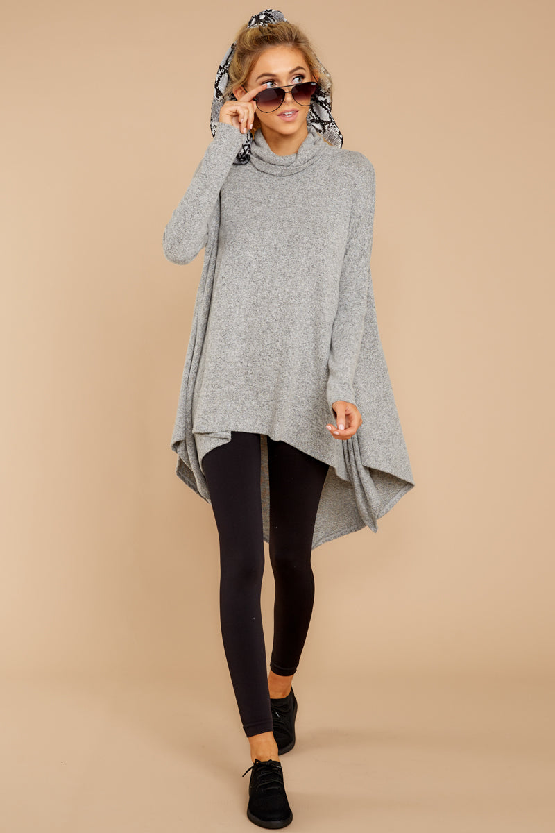 3 These Days Grey Top at reddressboutique.com
