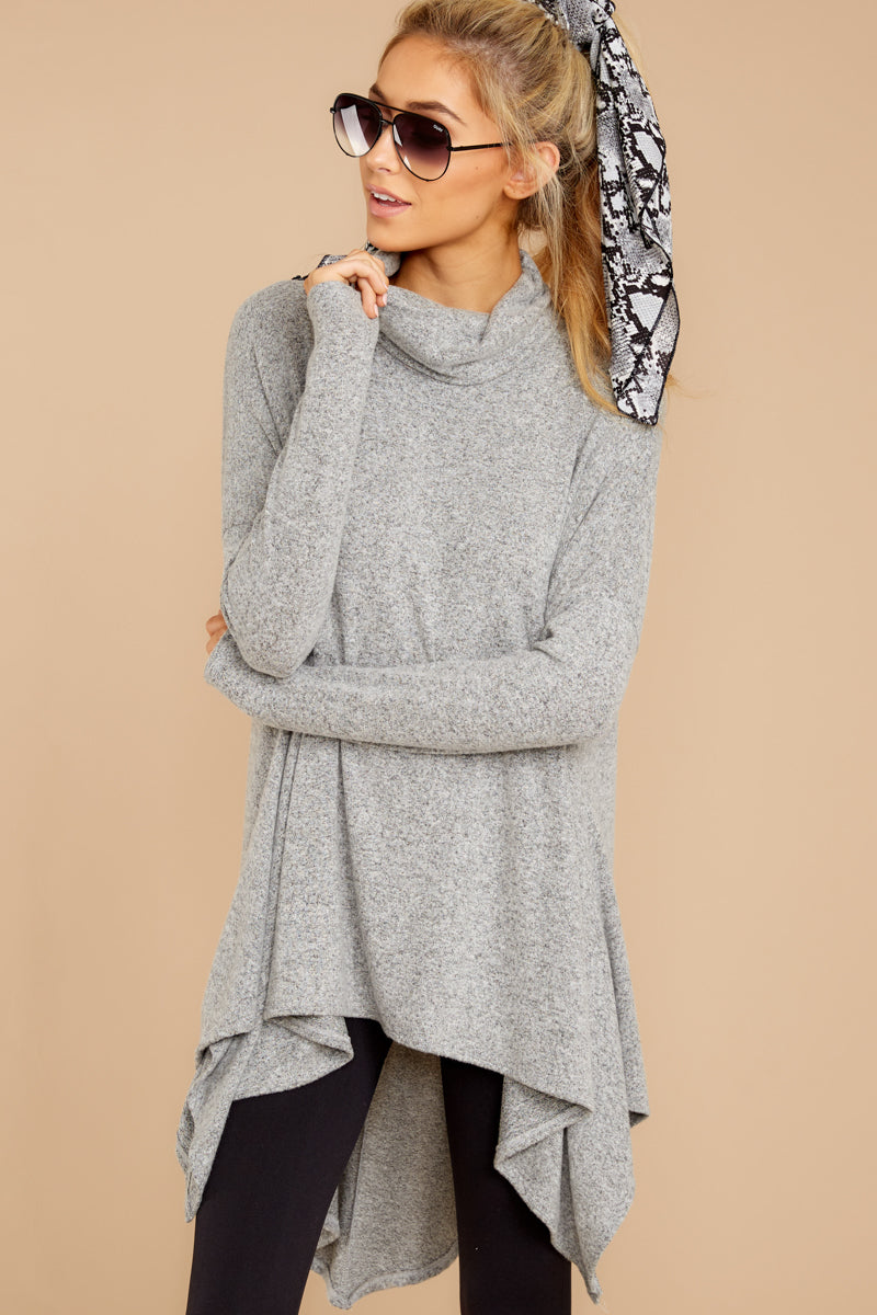 5 These Days Grey Top at reddressboutique.com